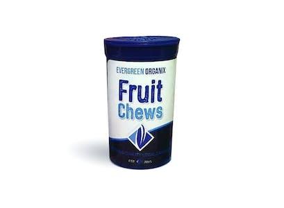 Evergreen Organix | Blue Raspberry Fruit Chews | Silver
