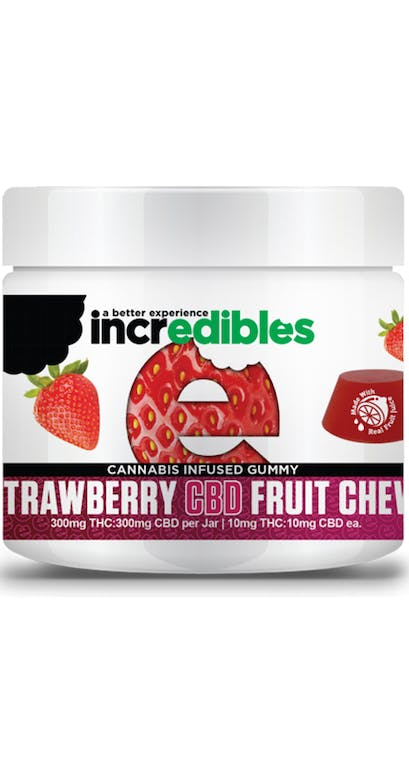 Incredibles | Strawberry 1:1 Medical Fruit Chews | The Green Joint